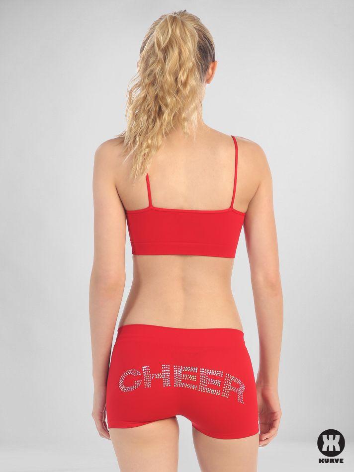 Sequined 'Cheer' Boy Shorts   Kurve Shop #KurveDancewear #Cheer #Dance #KURVE #KurveShop