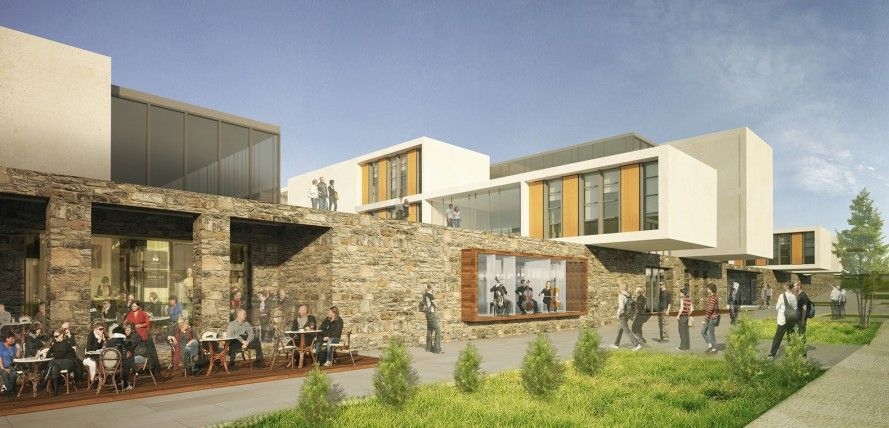 Green Gokceada School Campus In Turkey Will Double As A Community Space That Is Open 24 Hours A Day School Campus Campus Design Architecture