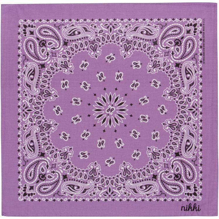 "22/"" x 22/"" 12 Pack Lavender Paisley Bandanas 100/% Cotton"