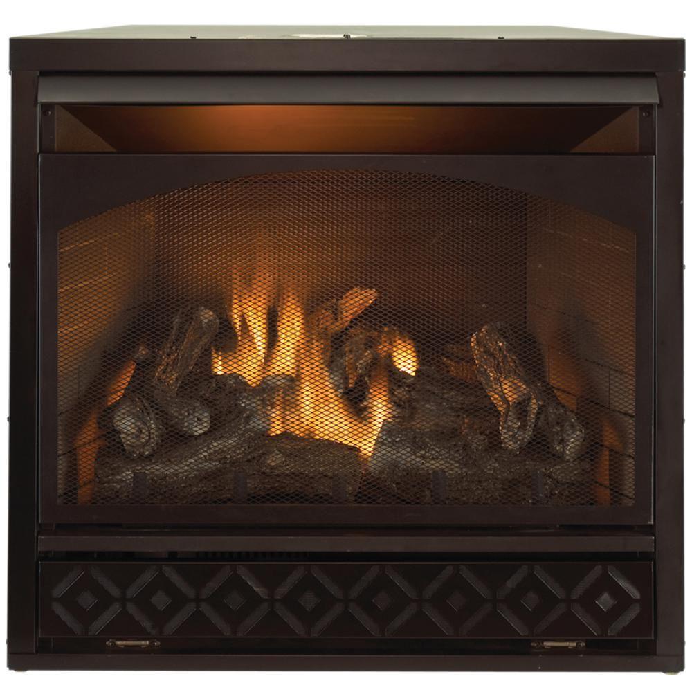 Procom Heating 32 000 Btu Gas Fireplace Insert Dual Fuel