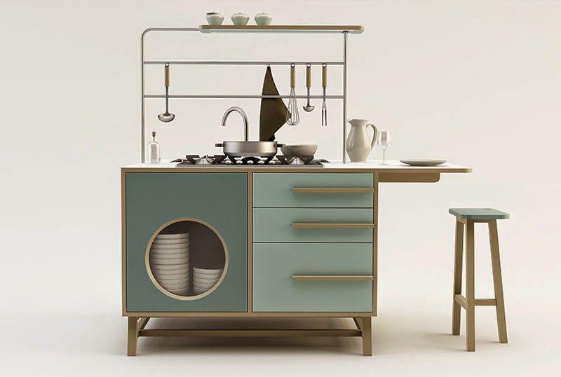 Contemporáneo Imágenes De Diseño De Cocina Modulares Ornamento ...
