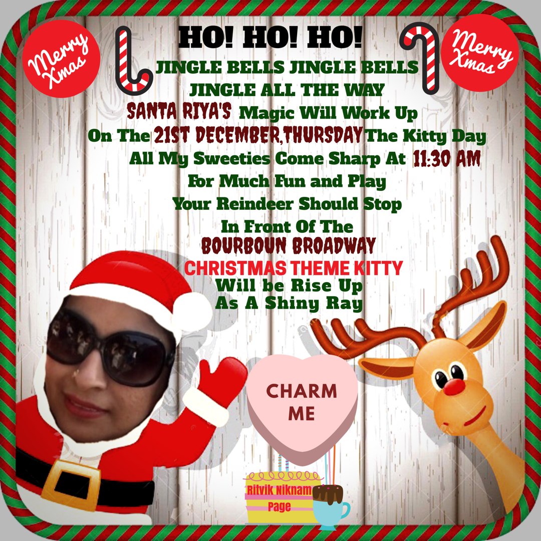 Christmas Theme Kitty Party Invitation Ritvik Niknam Page On Facebook Cat Party Party Invitations Kitty Party Themes