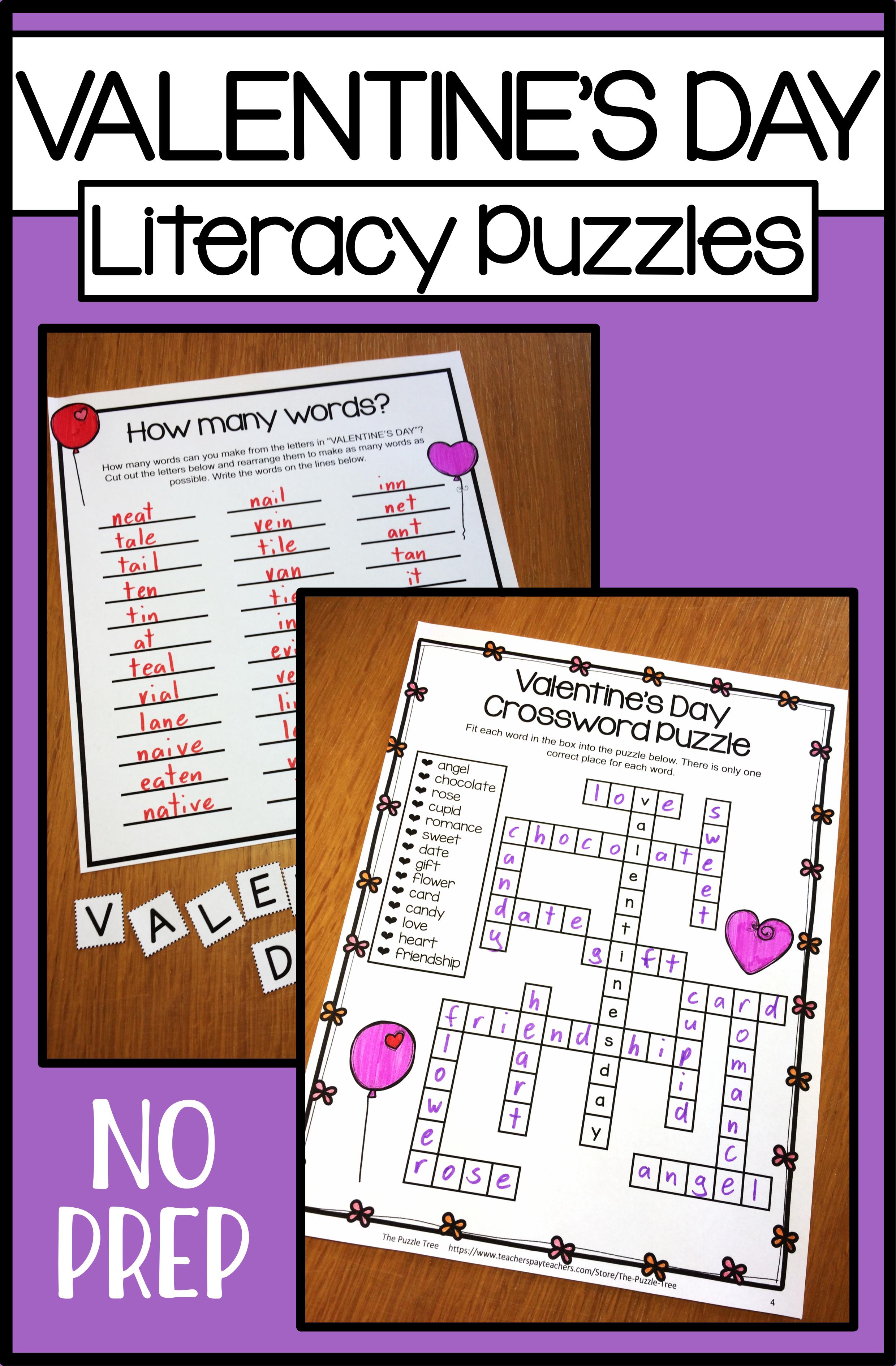 Valentine S Day No Prep Worksheets Valentine S Day