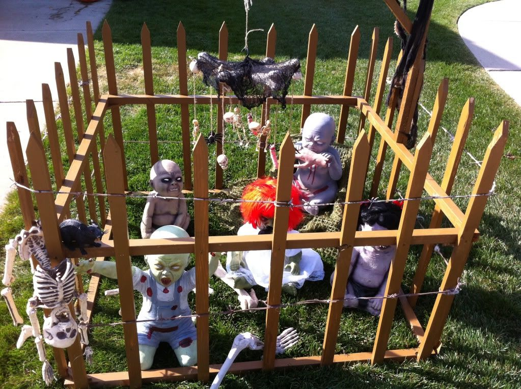 does this zombie baby halloween decoration cross the line some seem to think so
