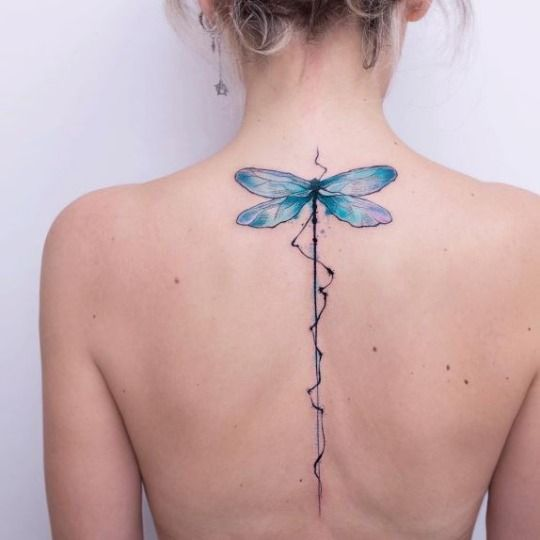 Stylish Personality Of The Female Back Spine Tattoo Is Getting More And More Popular Page 28 Of 51 Sciliy Simple Tattoos Neck Tattoo Dragonfly Tattoo Design