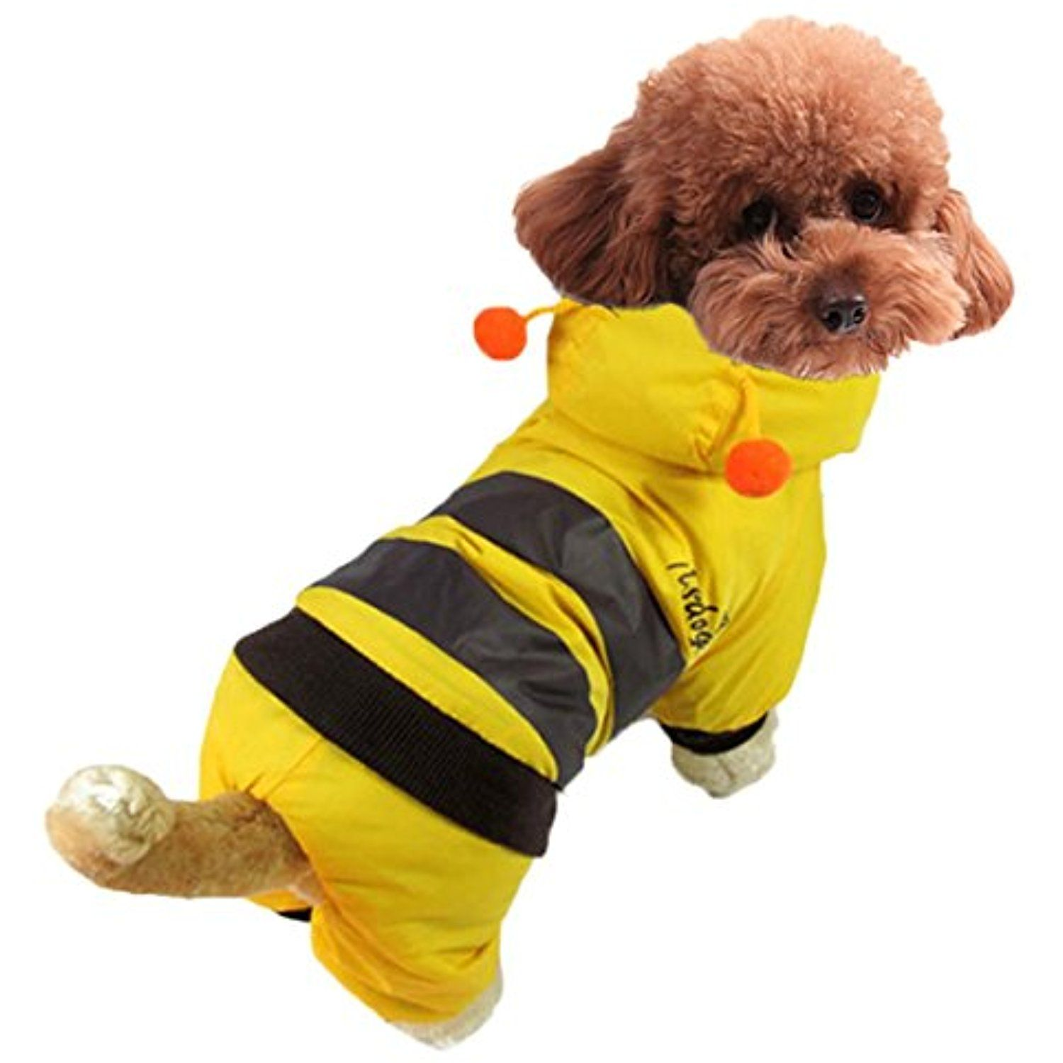 a9f2a268a40 Paixpays Bee Design Pet Dog Cloth Cat Puppy Hoodie Winter Coat Apparel  Costume *** For more information, visit image link. (This is an affiliate  link) #Cats