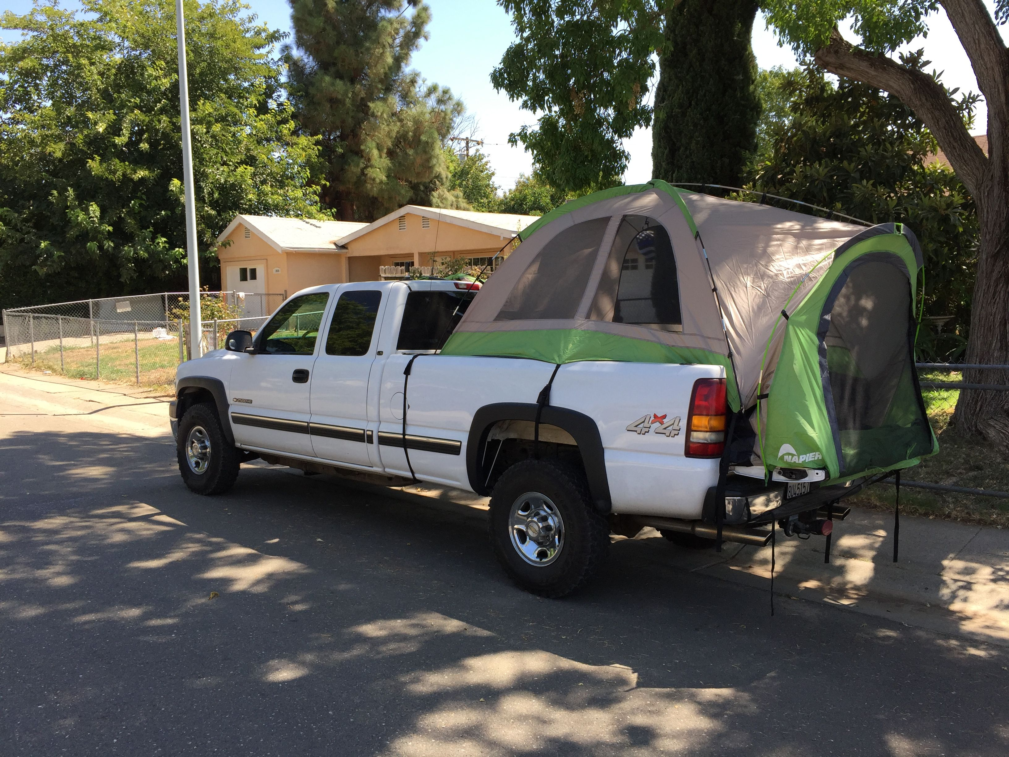 Chevy Silverado Long Bed 2500HD with a Napier Truck Tent