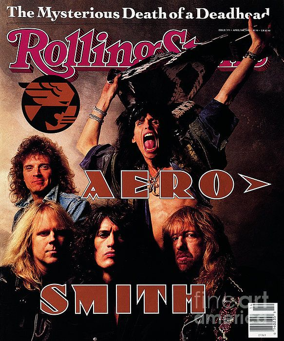 Rolling Stone Cover Volume 575 4 5 1990 Aerosmith By Mark