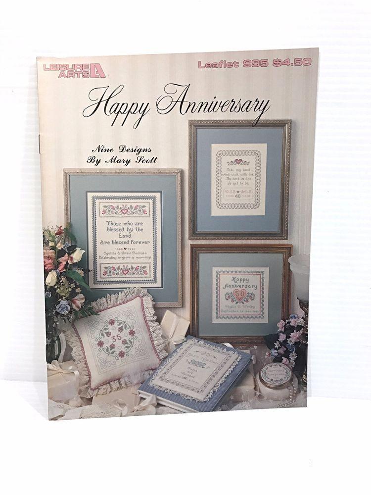 ANNIVERSARY CROSS STITCH PATTERN, counted cross stitch pattern, anniversary gift #LeisureArts