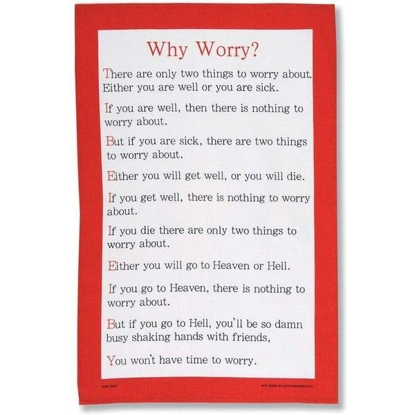 Ulster Weavers Tea Towel Why Worry (60 CNY) ❤ liked on Polyvore featuring home, kitchen & dining, kitchen linens, ulster weavers, linen tea towels and linen kitchen towels