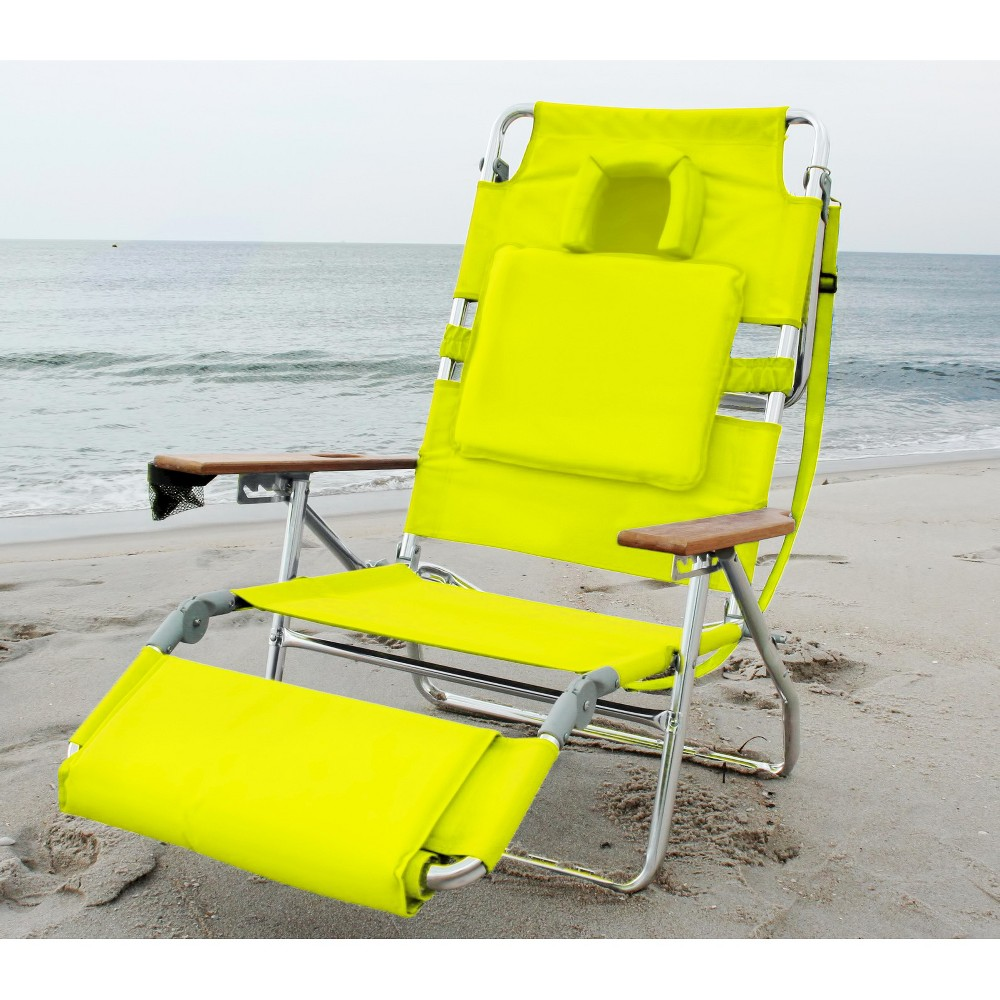 Ostrich Deluxe Face Down 3 In 1 Beach Chair Green