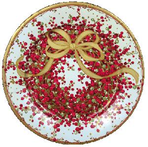 Caspari Pepperberry Paper Dessert Plates Bulk 8070sp Christmas Paper Plates Christmas Plates Christmas Dinner Plates