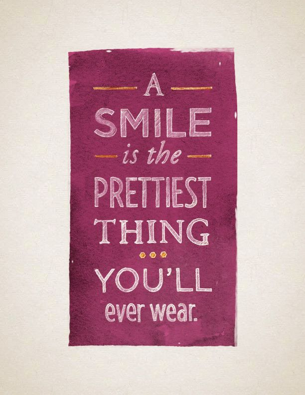 a smile is the prettiest thing you ll ever wear quote sweet
