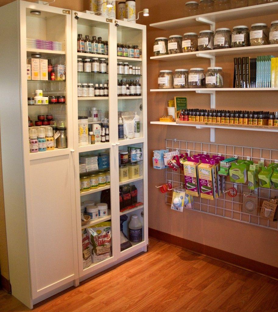 Wellness Shop Storage and organization, Herb shop, Storage