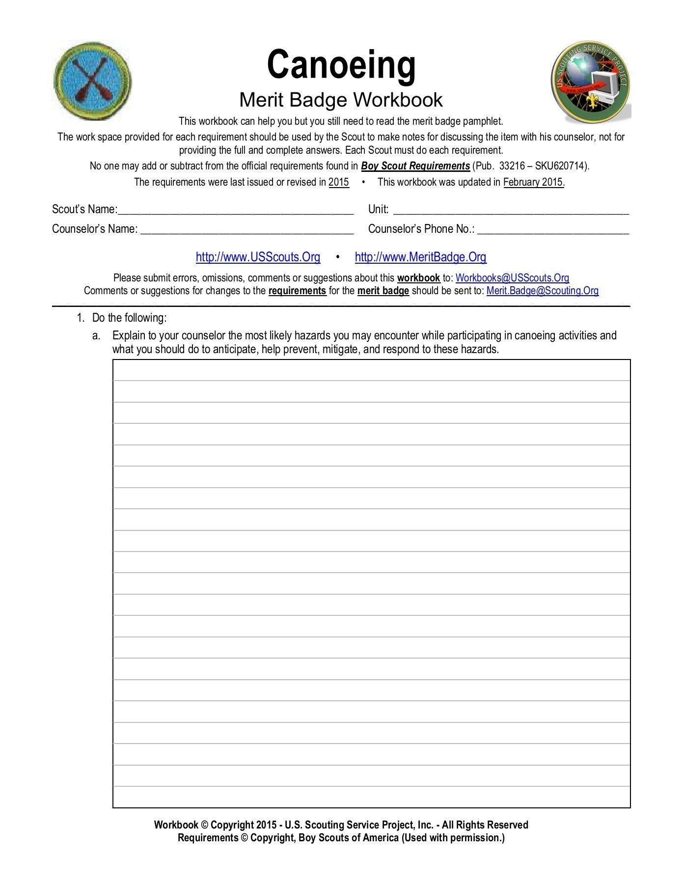 38 Awesome Merit Badge Worksheets Design Ideas