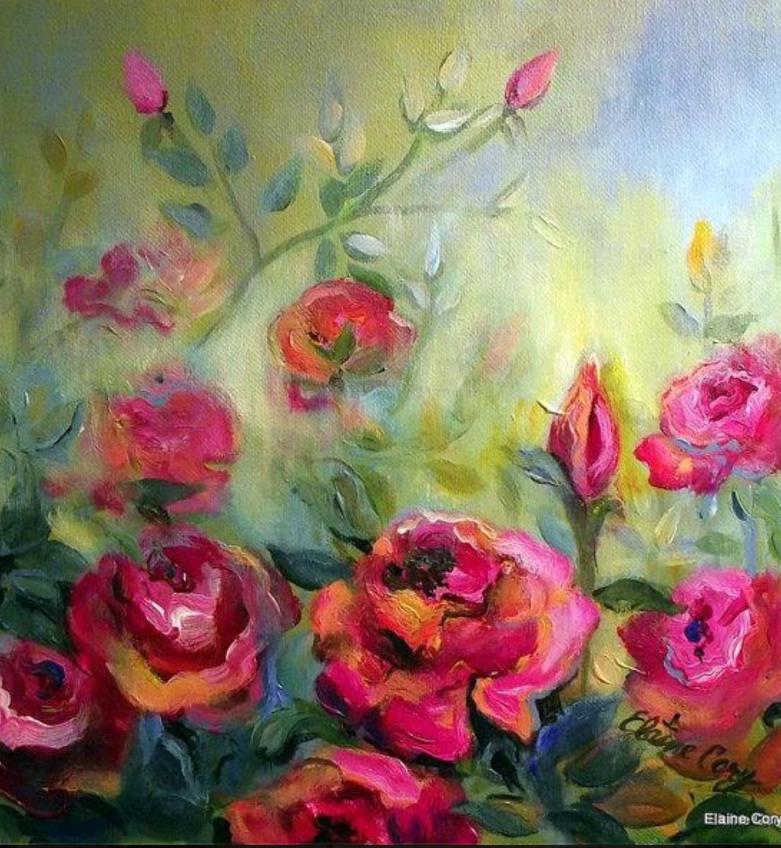 Pin by Lucille Nuanes on Art-Flowers | Pinterest | Art flowers ...