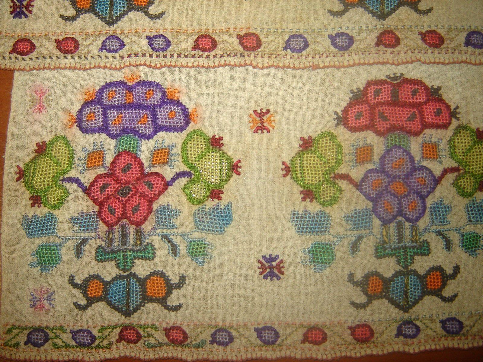 19th C Antique Ottoman Turkish Hand Embroidery On Linen 039 Yalik