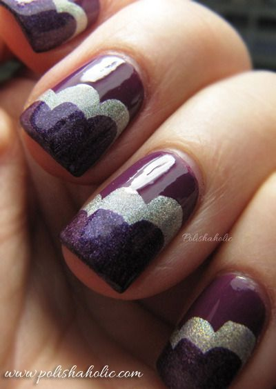 Purple cloud manicure