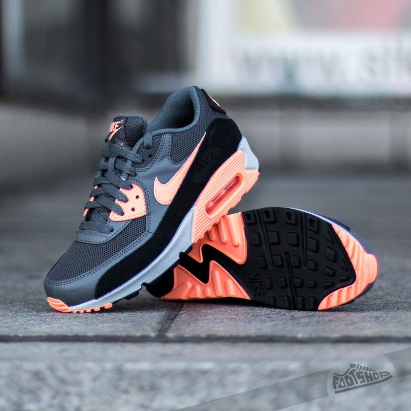 Nike Air Max 90 Essential - Dark Grey Sunset Glow Black Pure Platinum 2f514d2eb4