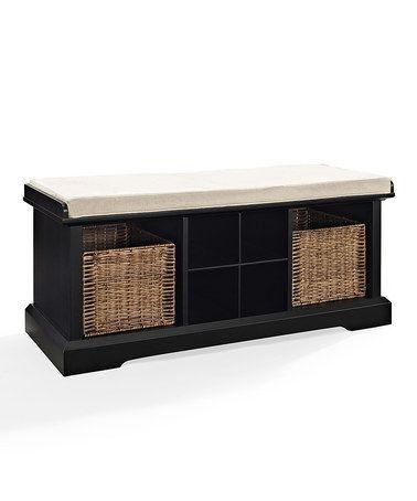 Another great find on #zulily! Black Brennan Entryway Storage Bench #zulilyfinds