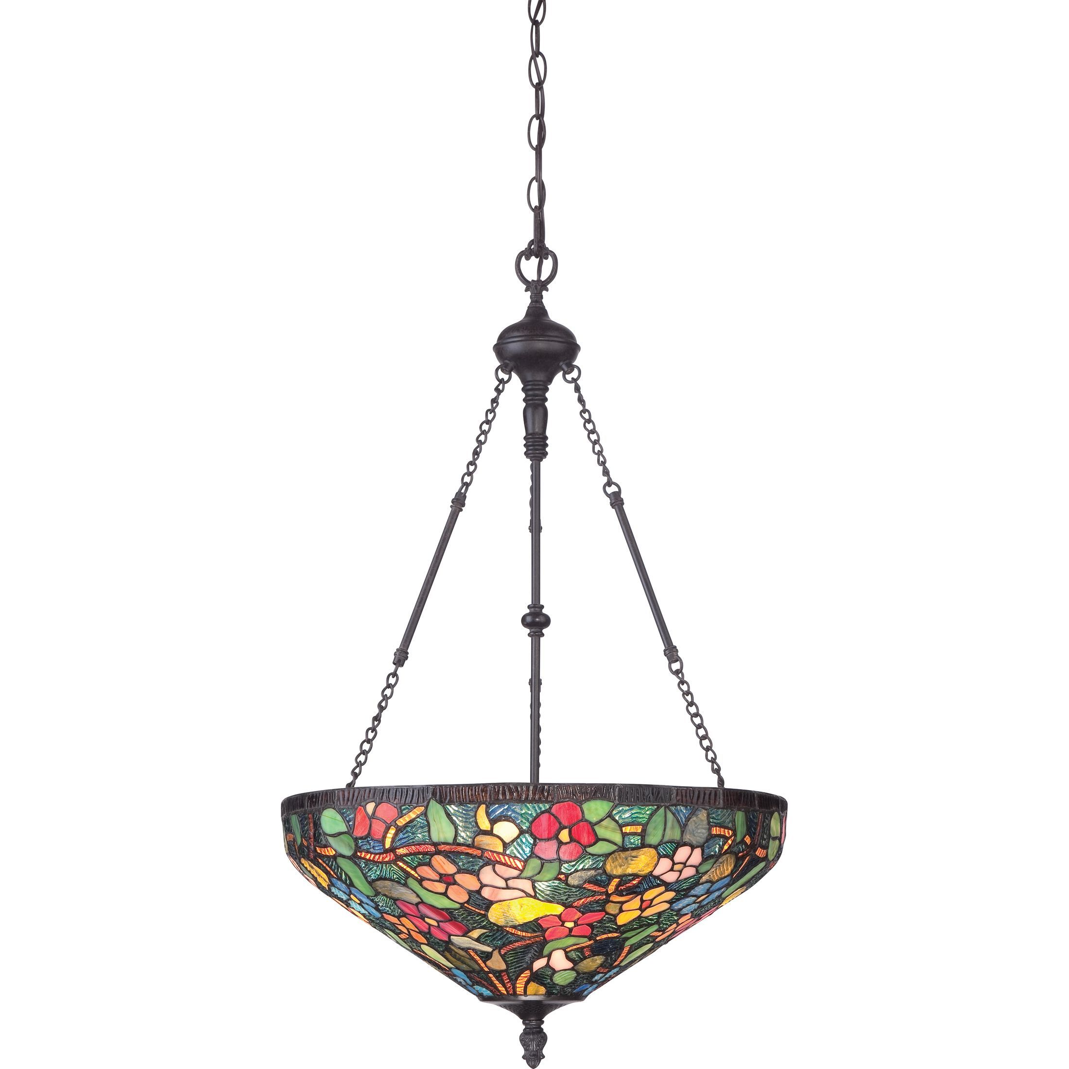 quoizel tiffany style palazzo 4 light imperial bronze pendant