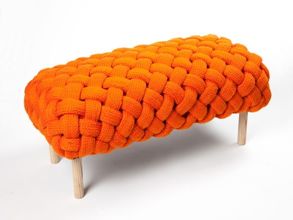 Prachtig gebreid meubel van ontwerpster Claire Anne OBrien (breien ...