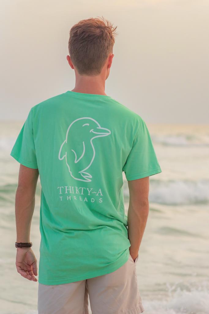 Clic Logo Pocket Tee Emerald Coast 30a Seaside Rosemary Beach Alys Fl