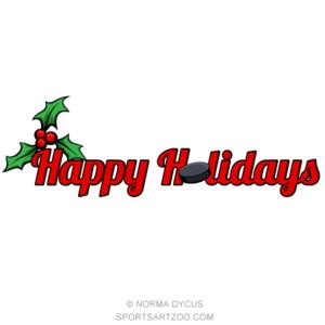 Hockey Happy Holidays Sportsartzoo Happy Holidays Baseball Christmas Holiday