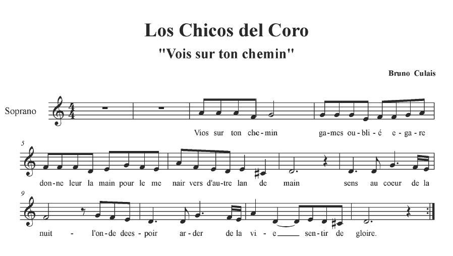 Los Chicos Del Coro Partituras Partitura Flauta