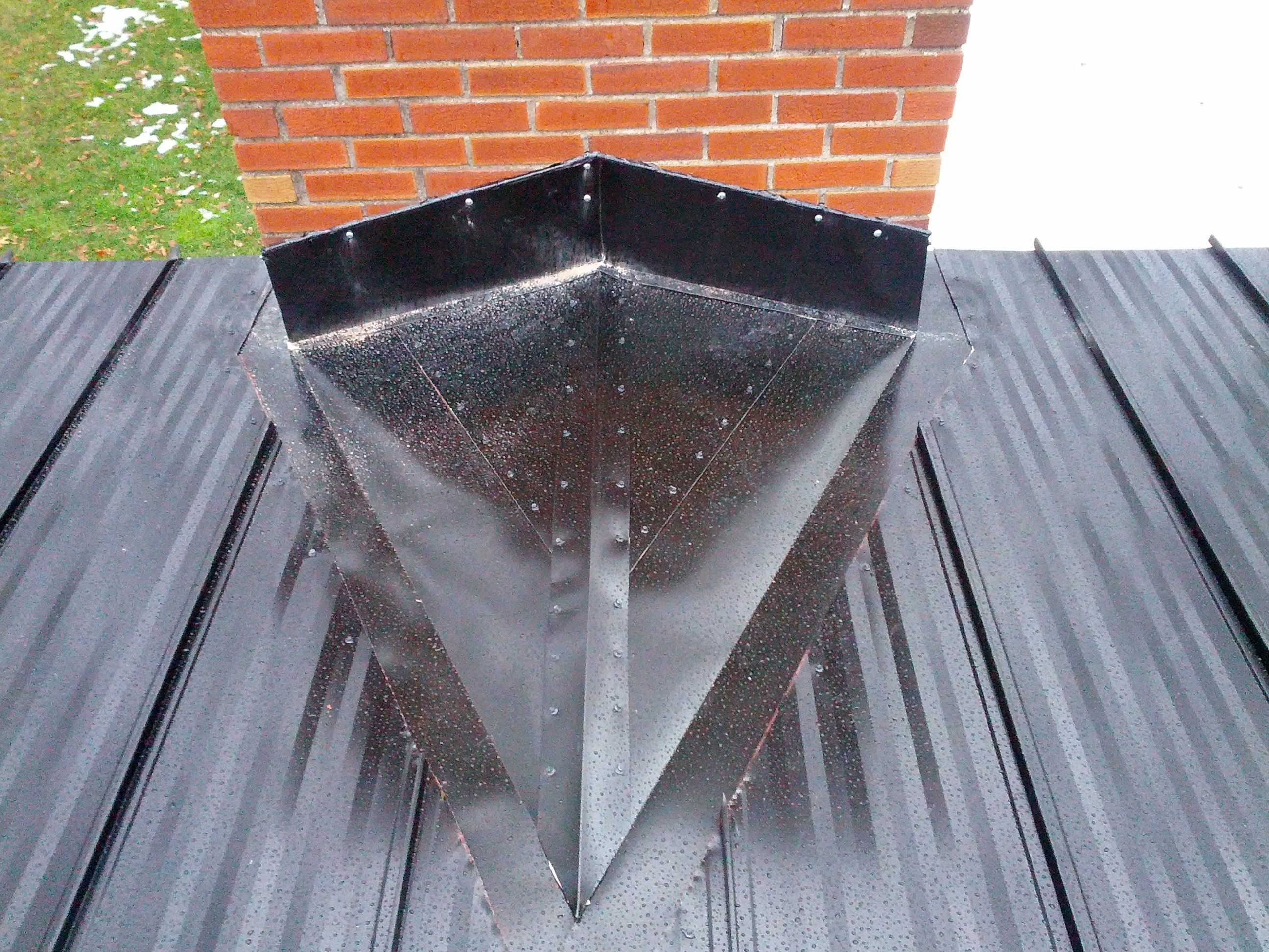 Pin On Roof Flashing At Rear Of A Chimney