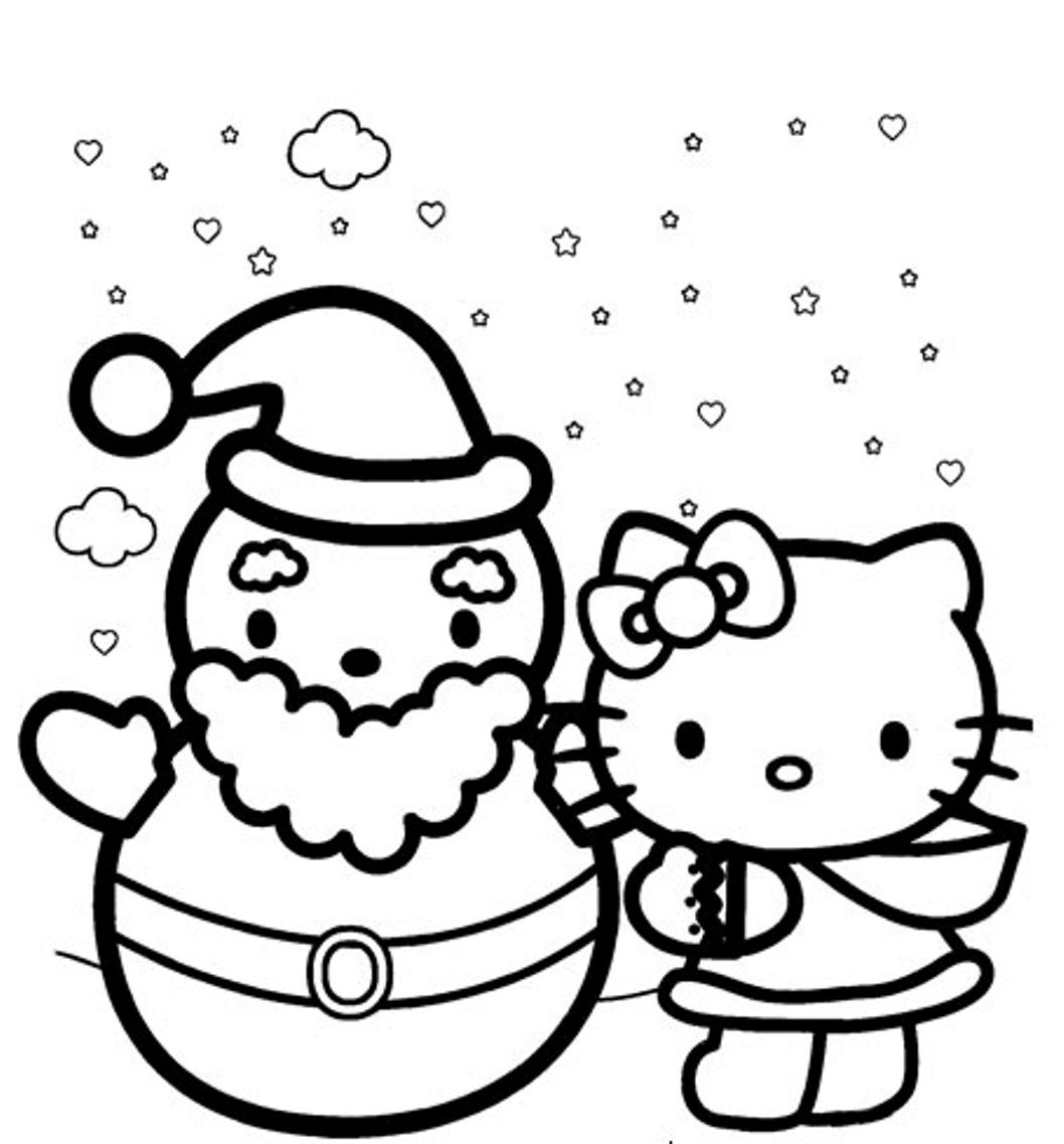 Hello Kitty Winter Coloring Pages Gallery  Hello kitty colouring