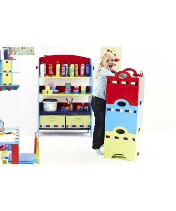 ELC Stackable Wooden Storage Boxes   Blue Wooden Storage Boxes, Toy Storage,  Magazine Rack