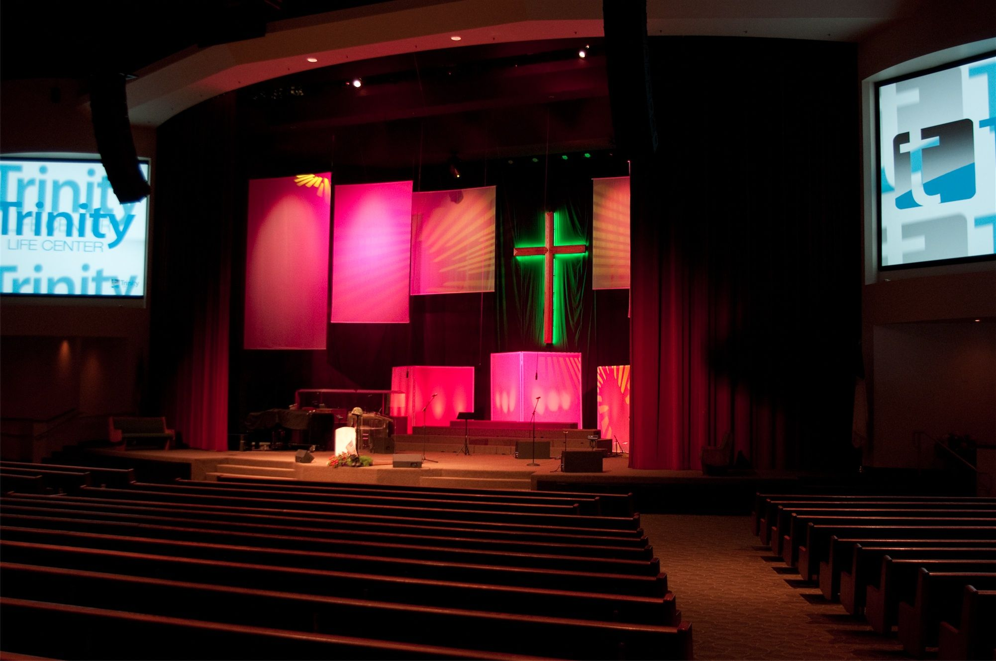 back drops for church stage traditional to modern church stage design ideas