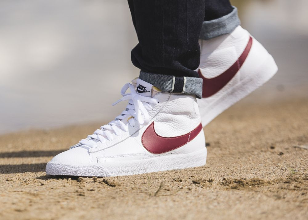 buy popular a3837 4fc73 Nike Blazer Mid Retro PRM 'OG 2016' White & Red, Black | NiKe in ...