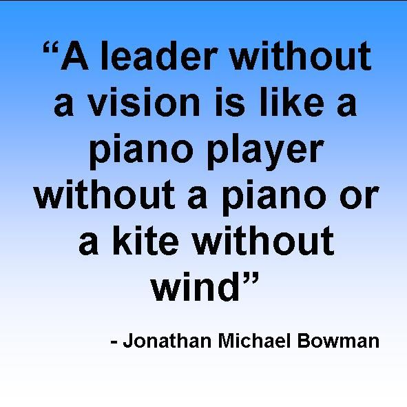Leadership Vision Quotes: A Leader Without A Vision Is Like A Piano Player Without A
