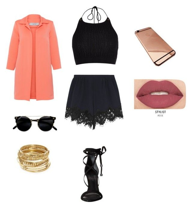 """""""#ContestEntry"""" by kiddunique ❤ liked on Polyvore featuring River Island, D.Exterior, Chloé, Schutz, ABS by Allen Schwartz and Smashbox"""