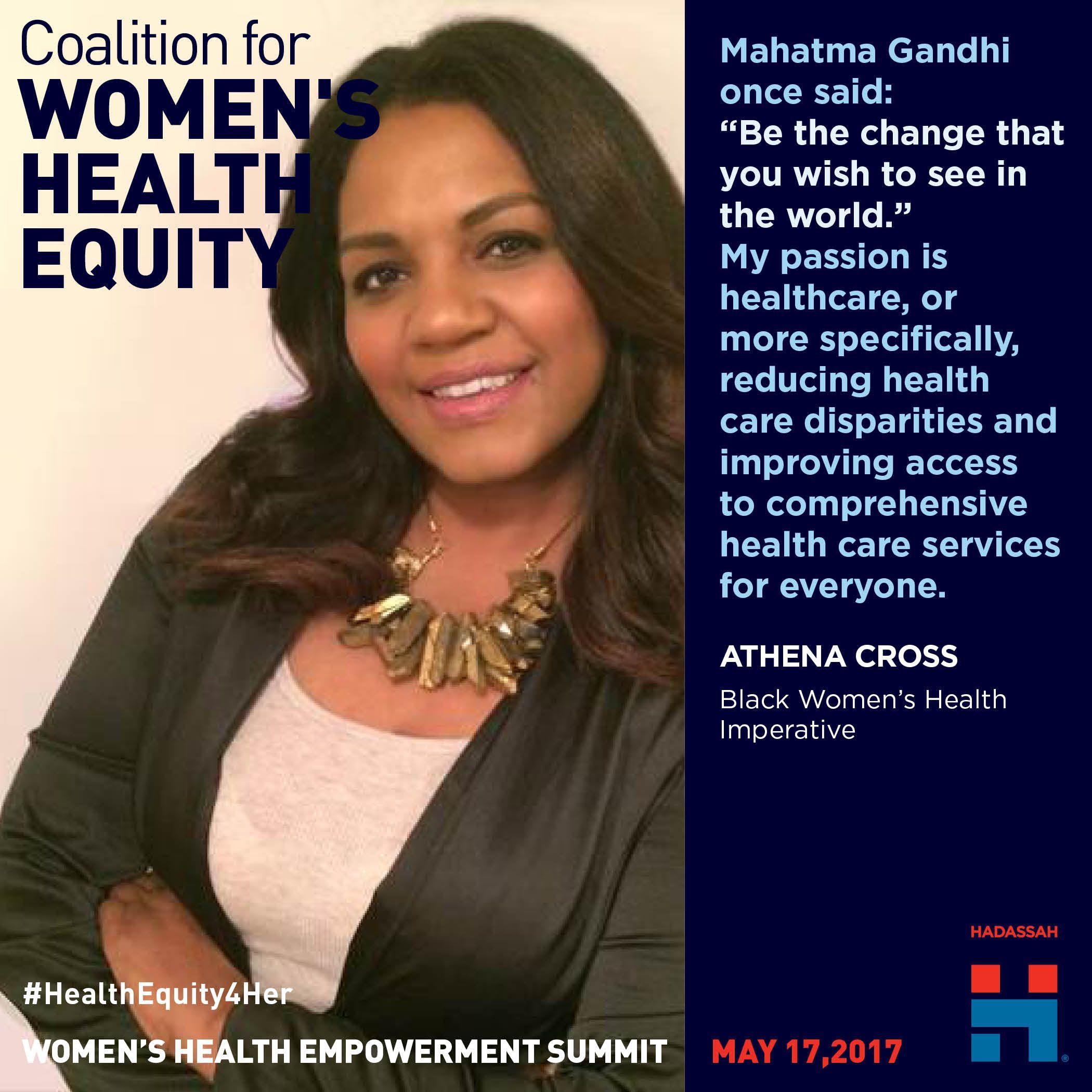 Athena Cross Edge Board Member Of Black Women S Health Imperative Womens Health Health Health Care Services