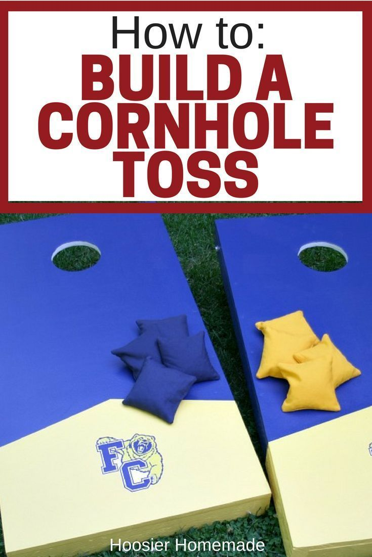 How to build a cornhole toss cornhole tossed and gardens how to build a cornhole toss hoosier homemade solutioingenieria Choice Image