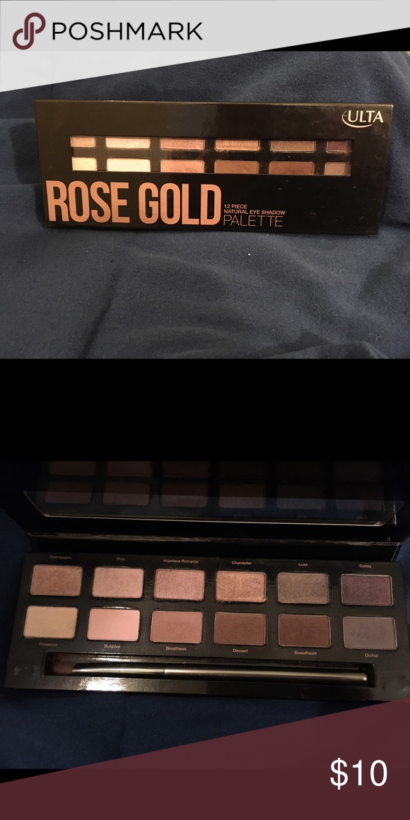 Ulta Rose Gold Palette Used to swatch but largely