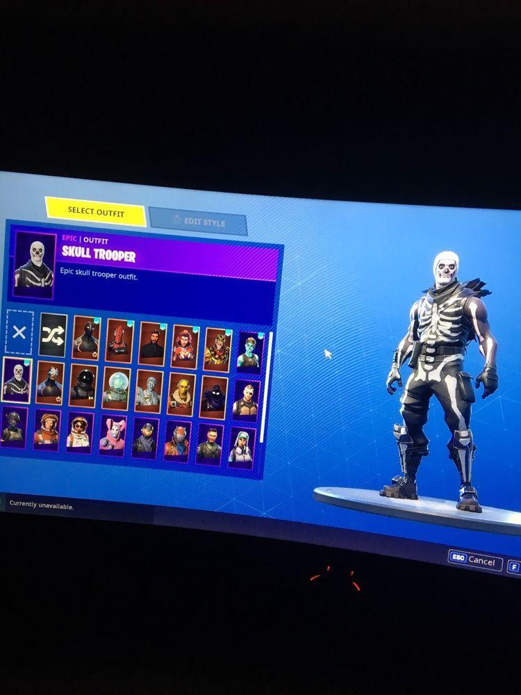 fortnite account skull trooper and ghoul trooper halloween skins scythe - fortnite account halloween skins