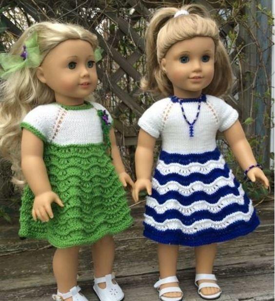 Two American Girl Doll Dresses | Para bebés, Muñecas y Bebé