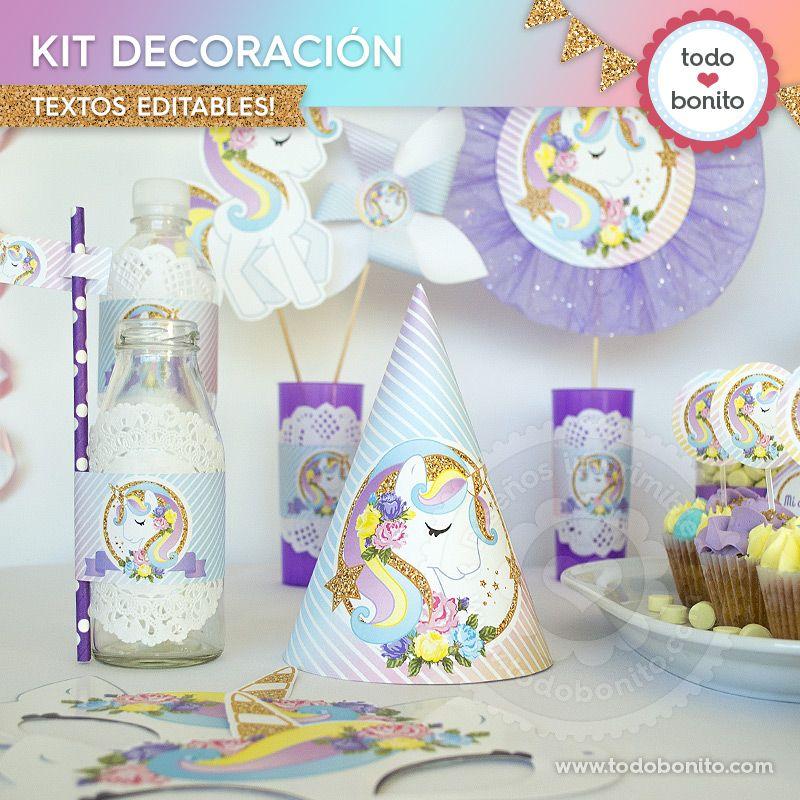 Decoraciones De Unicornio Para Imprimir Unicornios