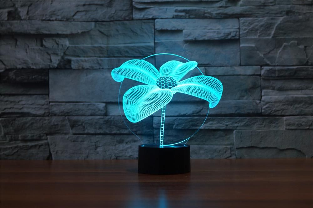 Flower 3d Illusion Lamp 3d Illusion Lamp Lamp Illusions