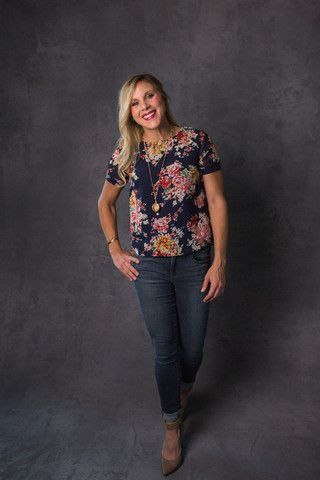 Boxy Floral Tee