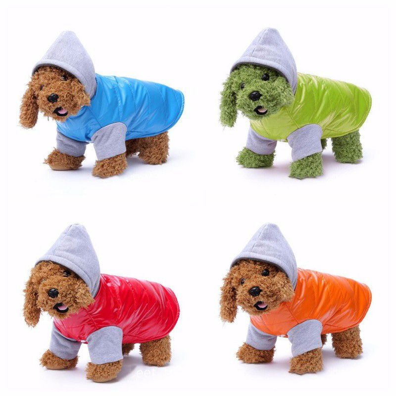 Winter Waterproof Pet Dog Coat Clothes Pu Thickened Small Dogs