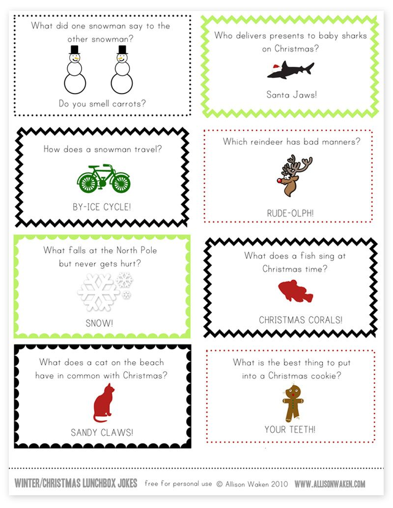 Christmas Lunchbox Note Jokes | Christmas | Pinterest | Christmas ...