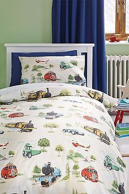 NEXT Charlie Vintage Transport Train Car Bus Bed Set Duvet ...