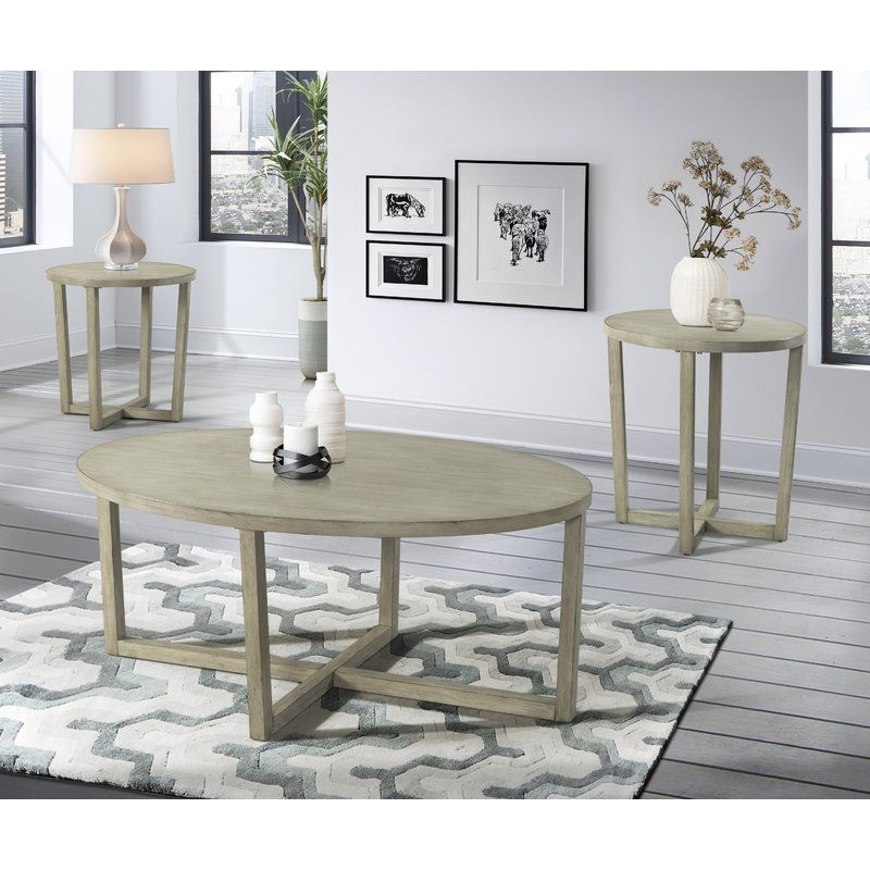 Brodbeck 3 Piece Occasional Coffee Table Set Table Oval Coffee