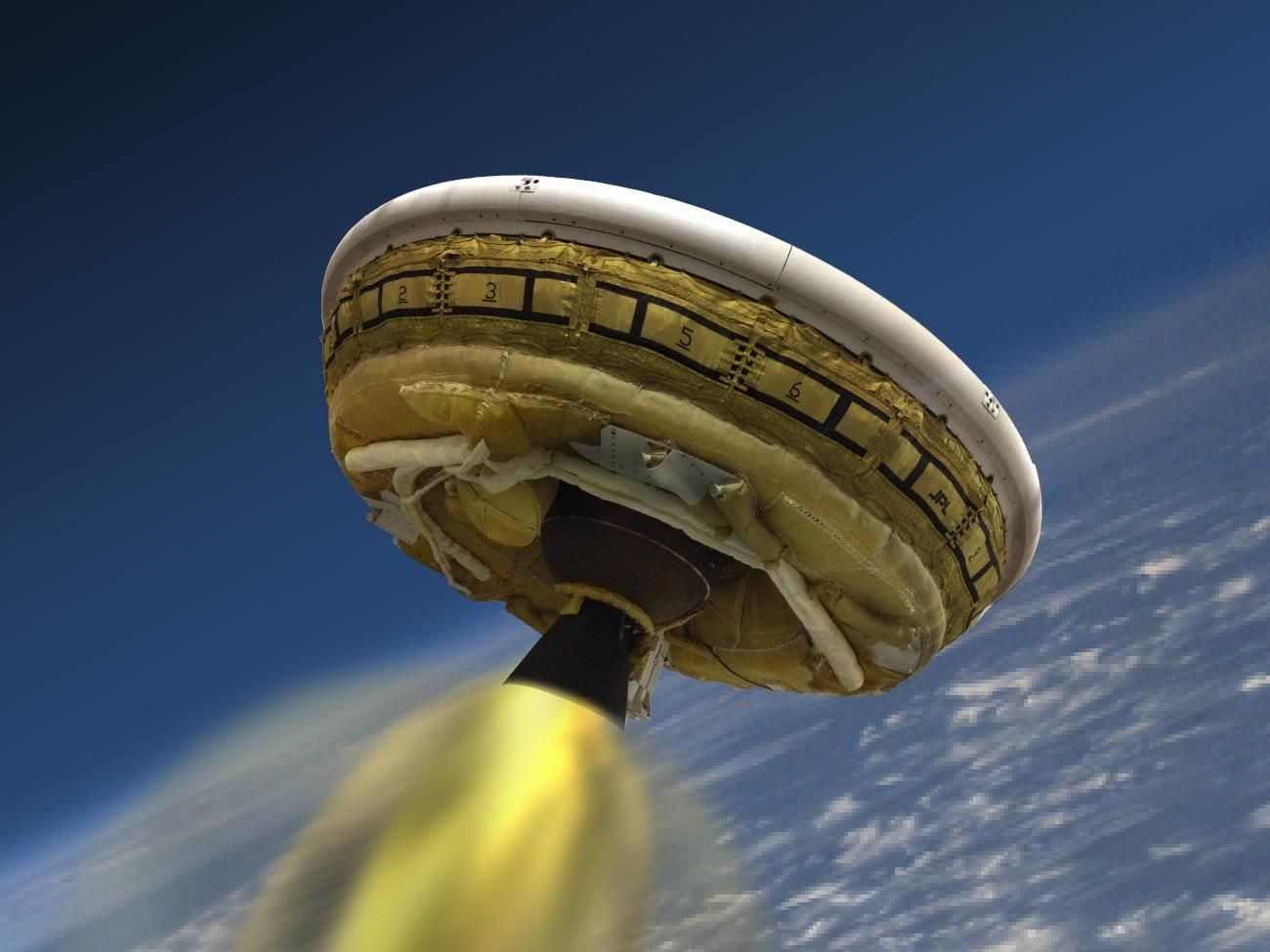 NASA's 'Flying Saucer' Mars Lander Splashes Down in the Pacific   Motherboard