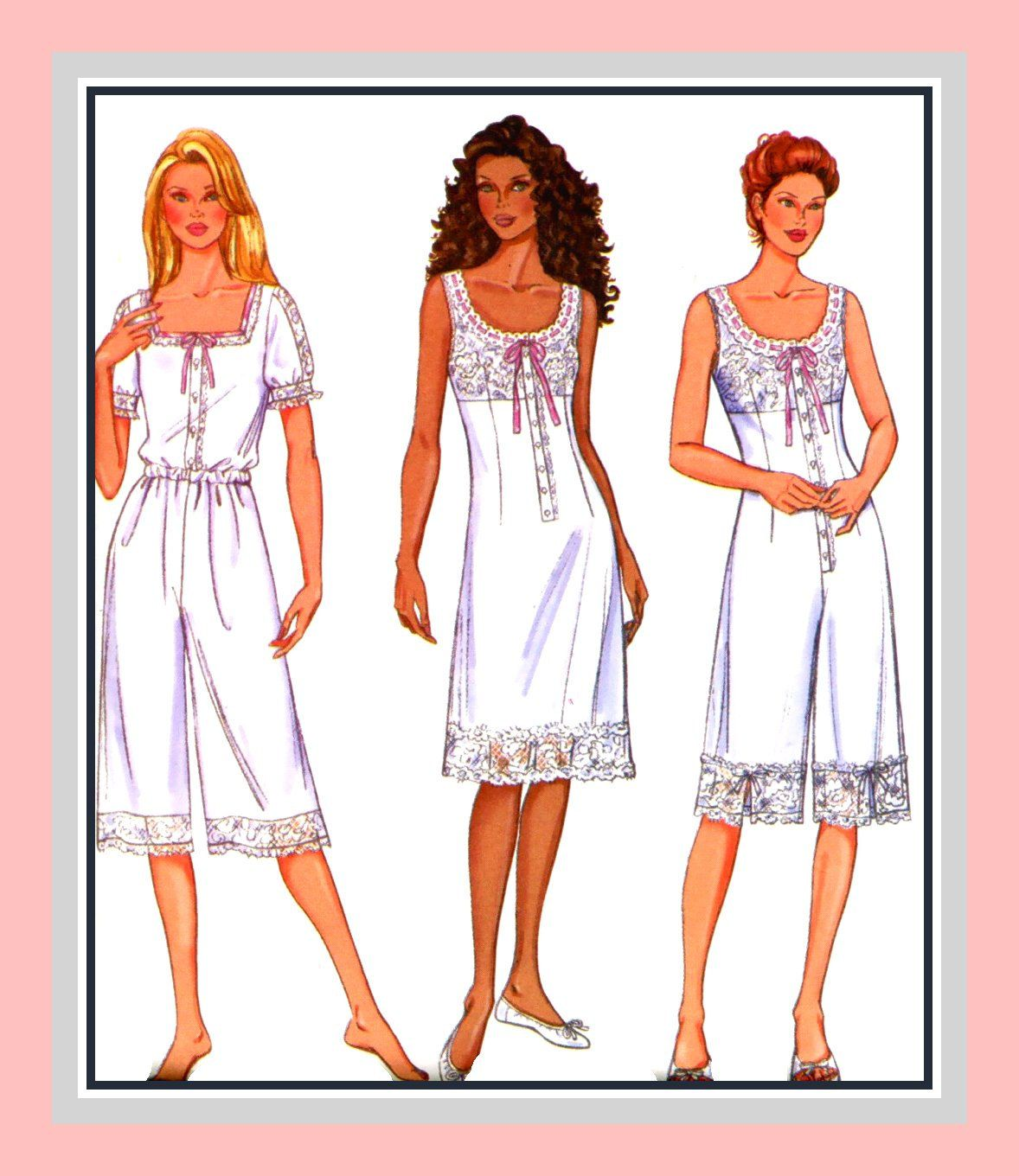 EDWARDIAN UNDERGARMENTS COLLECTION-Historical Sewing Pattern-Slip ...